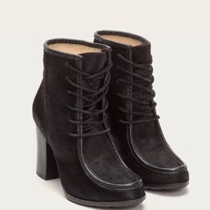 Frye Parker Moc Calf Hair Lace Up Booties 7